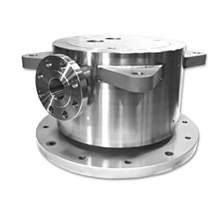 oil rotary union / for air / for refrigerant fluids / 2-passage