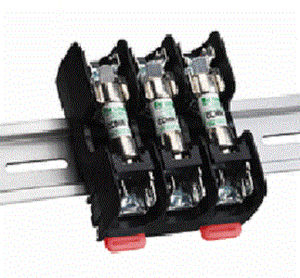 DIN rail fuse holder / Class CC