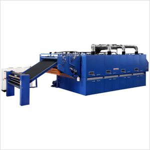 air blast dryer / continuous / for the textile industry / horizontal