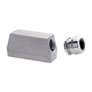 nickel-plated brass cable gland / IP68 / threaded / strain relief