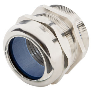 nickel-plated brass cable gland / IP68 / chemical-resistant / strain relief