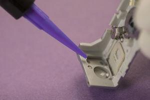 dual-curing adhesive / epoxy / for plastics / for ceramics