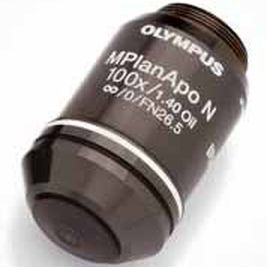 fixed-focus objective lens / high-resolution