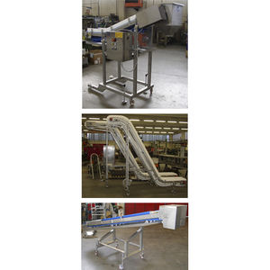 belt conveyor / for the food industry / food / inclined