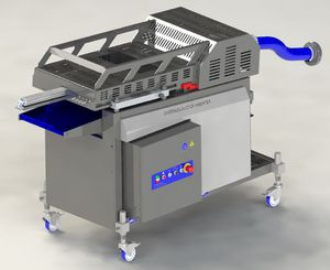 meat skewer machine / for cheese / automatic / continuous