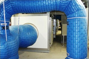 flexible air duct / textile / for heating