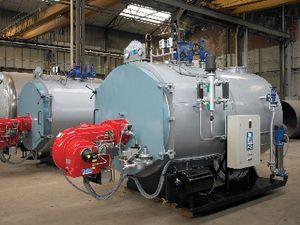 fuel oil steam generator / gas / fire tube / three-pass
