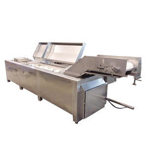 continuous industrial fryer / vegetable / stainless steel / robust
