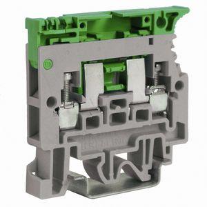 DIN rail-mounted terminal block