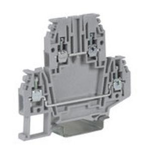 DIN rail-mounted terminal block / dual-stage / feed-through
