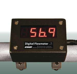 compressed air flow meter / digital / clamp-on
