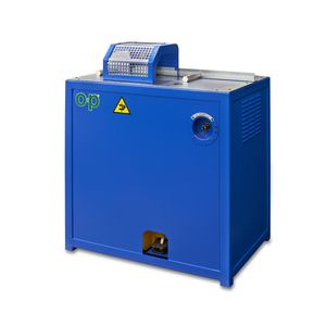 rubber cutting machine / rotary blade / for hoses / pedal-operated