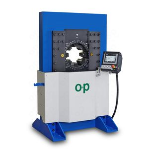 hydraulic hose crimping machine / automatic / hydraulic / PLC-controlled