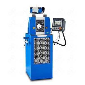 hose crimping machine / semi-automatic / hydraulic / PLC-controlled