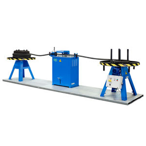 rubber cutting line / for hoses / manually-controlled