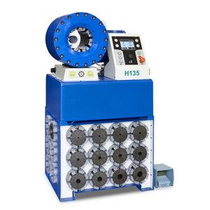 hydraulic hose crimping machine / semi-automatic / hydraulic / PLC-controlled