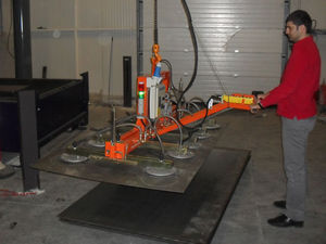 glass plate vacuum lifting device