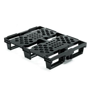 recycled plastic pallet / HDPE / Euro / industrial