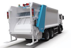 rear-loader waste collection vehicle