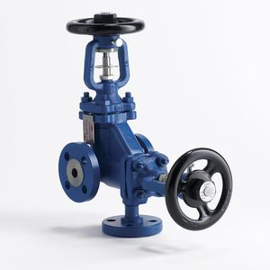 disc valve / with handwheel / stop / for gas
