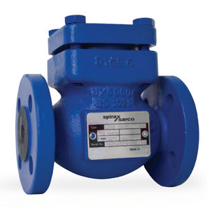 ball check valve / double-flange / for pipelines / stainless steel