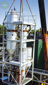 forced circulation evaporator / process / for liquid waste