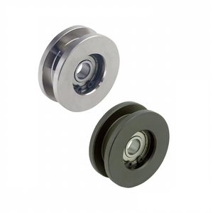 flanged wheel type roller