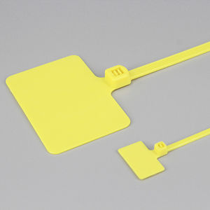 nylon cable tie / flameproof / UV-resistant / marker