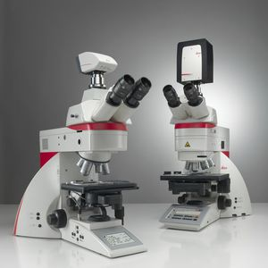 laboratory microscope / digital / upright / fluorescence