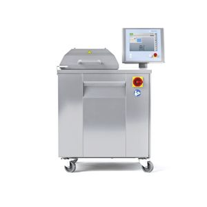 semi-automatic packing machine / bell type / compact / for the medical industry
