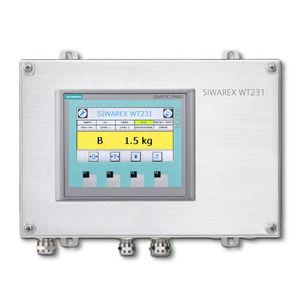 IP65 weighing terminal / stainless steel