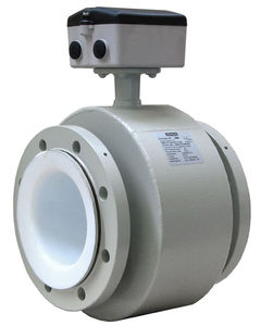 electromagnetic flow meter / for solids / in-line