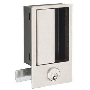 flush handle / recessed / door with lock / machine