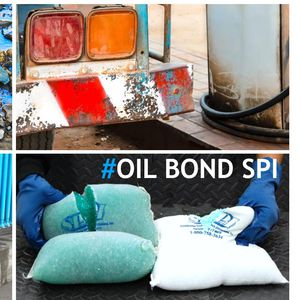 pillow absorbent / oil / for hydrocarbons / water-repellent