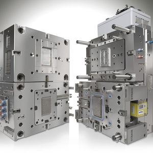 multi-cavity plastic injection mold / bi-material / mono-cavity / technical parts