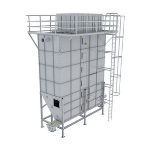 silo with extractor / with mixer / for bulk materials / stainless steel
