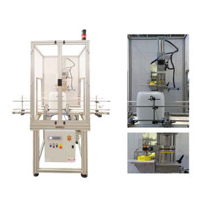 linear screw capping machine / automatic / jerrycan