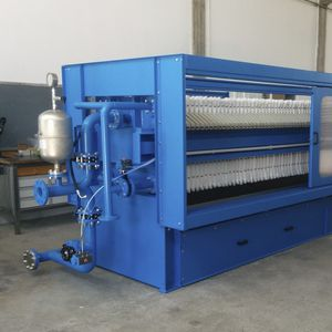 side-beam filter press / semi-automatic / high-pressure / for slurry