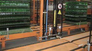 pallet conveyor system / for glass bottles / for glass containers