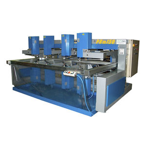 horizontal drilling machine / PLC-controlled / flat glass / multi-spindle