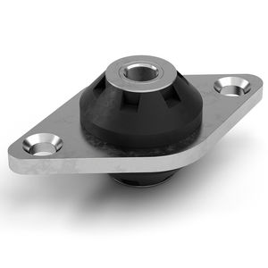 round anti-vibration mount / metal / rubber / silicone