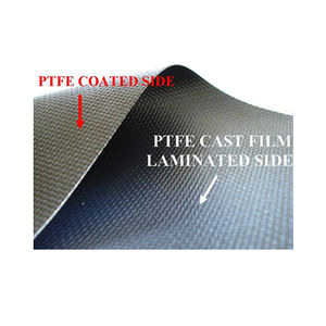 fiberglass fabric / PTFE / for thermal protection / high-temperature