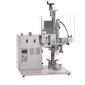 pneumatic screw capping machine / screw / semi-automatic / for bottles