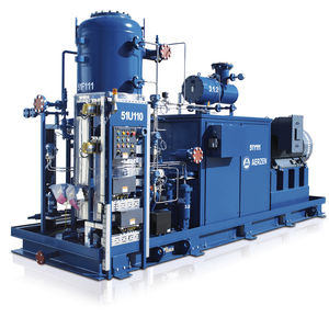 air compressor unit / screw / for refrigeration technology / with oil injection