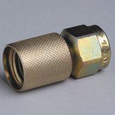 gauge adapter / hydraulic / threaded / carbon steel