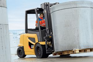 electric forklift / ride-on / for the construction industry / for the food industry