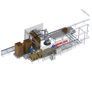 robotic depalletizer / for glass bottles / plastic bottle / for cartons