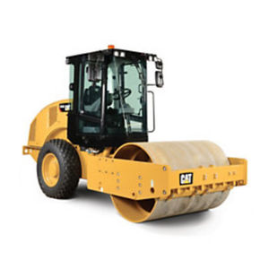 vibrating road roller / single-cylinder / articulated