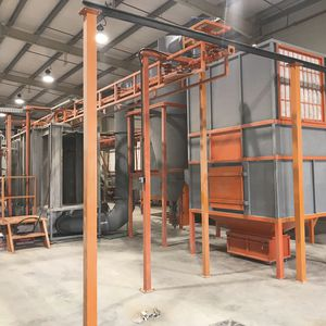 enclosed powder coating booth / for parts / filter / cyclone