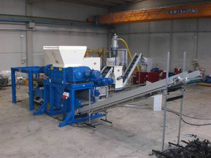 mill production line with shredder